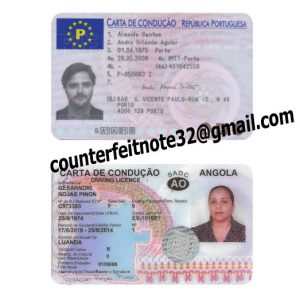 Fake Portuguese Driving license